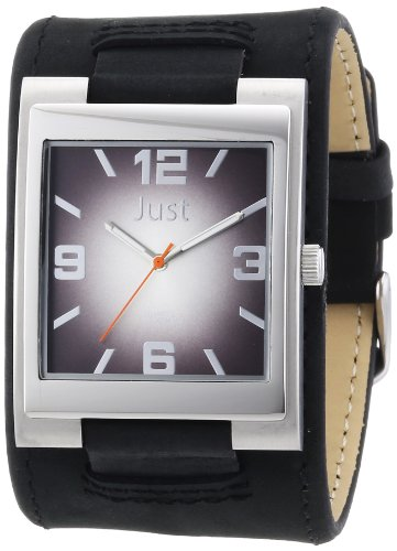 Just Watches Herren Armbanduhr XL Analog Leder 48 S2765 BK
