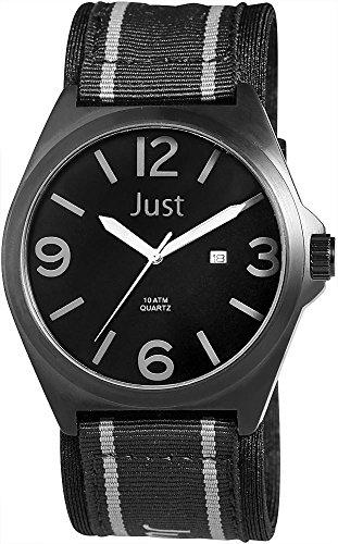 Just Watches XL Analog Quarz Textil 48 S3926BK BK