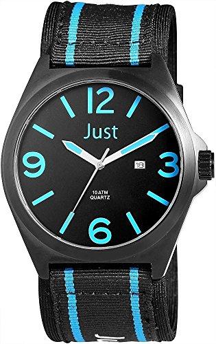 Just Watches XL Analog Quarz Textil 48 S3926BK BL