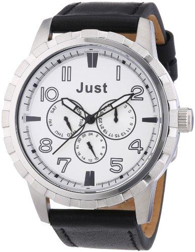 Just Watches XL Analog Quarz Leder 48 S4997SL BK