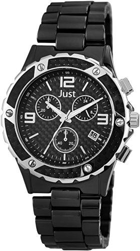 Just Watches XL Chronograph Quarz Keramik 48 S0006 BK