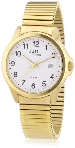 Just Watches Herren Armbanduhr XL Analog Edelstahl 48 S2307B GD
