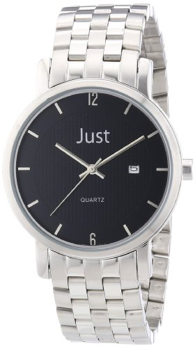 Just Watches Herren Armbanduhr XL Analog Edelstahl 48 S3251 BK
