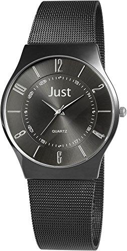 Just Watches XL Analog Quarz Edelstahl 48 S7919BK BK