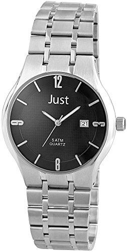 Just Watches XL Analog Quarz Edelstahl 48 S9913 BK