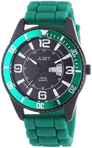 Just Watches Herren Armbanduhr XL Analog Quarz Kautschuk 48 S10734 GR