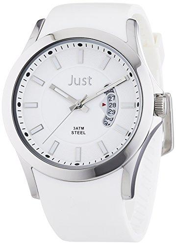 Just Watches XL Analog Quarz Kautschuk 48 S8277A WH