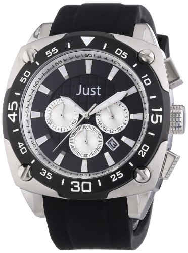 Just Watches XL Analog Quarz Kautschuk 48 STG2373 BK