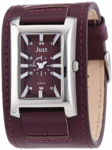 Just Watches Unisex Armbanduhr Analog Quarz Leder 48 S9261RD