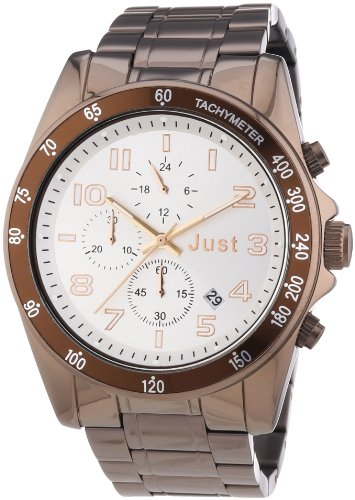 Just Watches Unisex Armbanduhr Analog Quarz Edelstahl 48 S1230BR SL