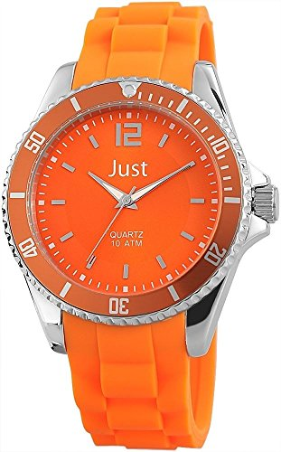 Just Watches Unisex Armbanduhr Analog Quarz Kautschuk 48 S3862 OR