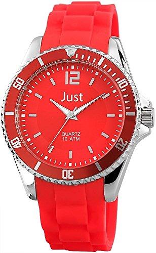 Just Watches Unisex Armbanduhr Analog Quarz Kautschuk 48 S3862 RD