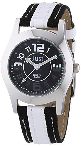 Just Watches Unisex Armbanduhr Analog Quarz Kunstleder 48 S0007 WH