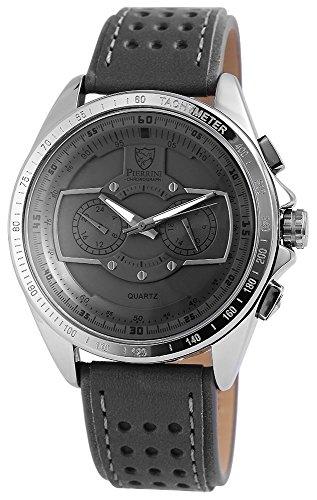 Pierrini Herren Chronograph Armbanduhr 24 Std Anzeige Stoppfunktion 50 mm 291171500003