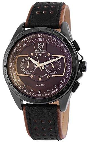 Pierrini Herren Chronograph Armbanduhr 24 Std Anzeige Stoppfunktion 50 mm 291177000003