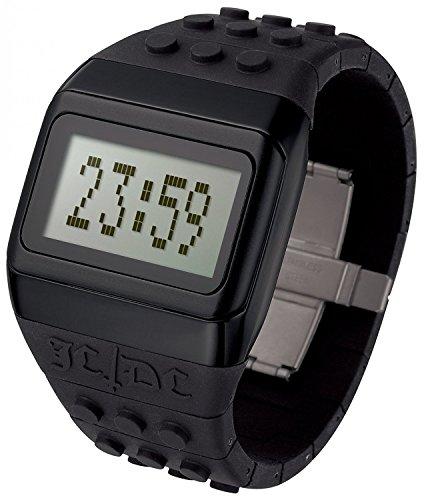 ODM JC01 13 Unisex JD DC Pop Hours Schwarz Plastikband GreyDigital Zifferblatt Uhr