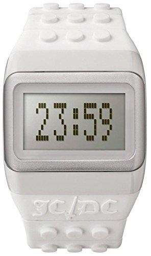 ODMJC01 14 Unisex JD DC Knall Stunden weisses Plastikband graues Digital Zifferblatt