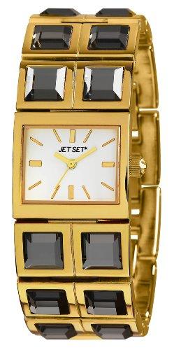 Jet Set Damen Armbanduhr Beverly Hills Analog Quarz Edelstahl J43608 712