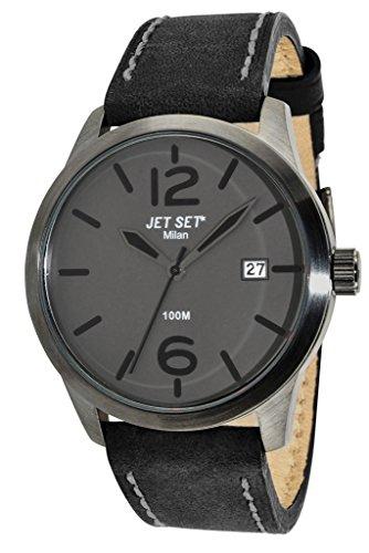 Jet Set Herren Armbanduhr Milan Analog Quarz Leder J6380B 262
