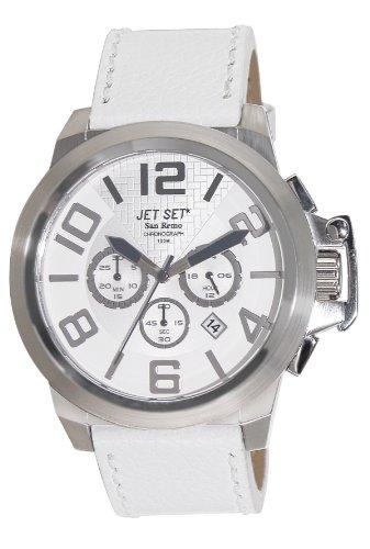 Jet Set Herren Armbanduhr San Remo Chronograph Quarz Leder J61903 261