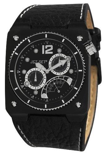 Jet Set j3172b 247 Rio de Janeiro Armbanduhr Quarz Analog Zifferblatt schwarz Armband Leder schwarz