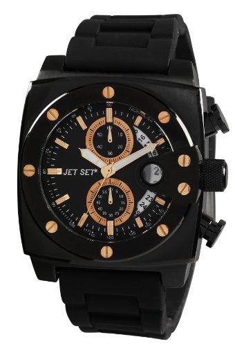 Jet Set j3173b 237 Santorini Armbanduhr Quarz Chronograph Zifferblatt schwarz Armband Stahl schwarz