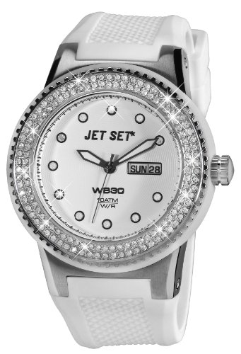 Jet Set J65454 141 Wb30 Damen Armbanduhr 045J699 Analog weiss Armband Gummi weiss