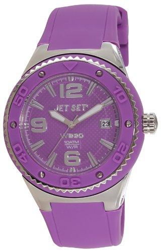 Jet Set J53454 060 Wb30 Quarz Analog Zifferblatt Violett Armband Kautschuk violett