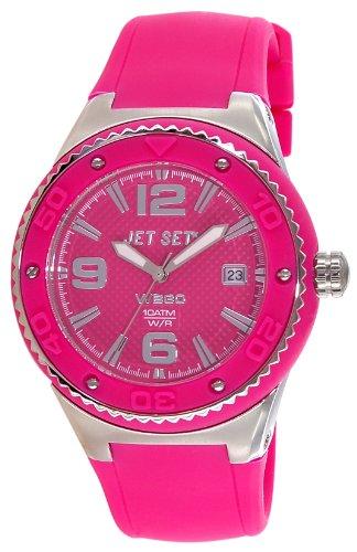 Jet Set J53454 868 Wb30 Quarz Analog Zifferblatt Rosa Armband Kautschuk rosa