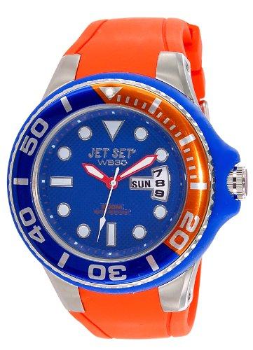 Jet Set J55223 11 Wb30 Diver Zeigt Herren Armbanduhr 10510262 Analog Gummi Orange