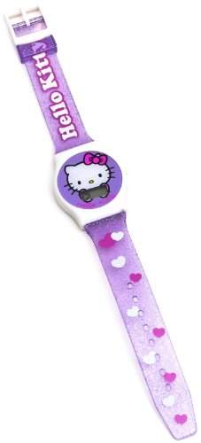 Hello Kitty Maedchen-Armbanduhr Herz Glitter Digital Quarz 25427
