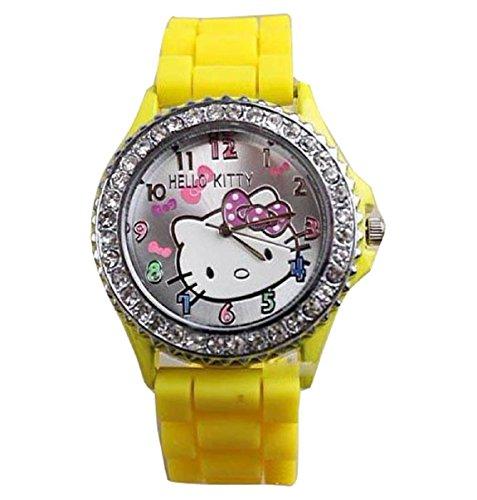 New Lovely Fashion Hello Kitty watches Girls Uhren M dchen Ladies Wrist Watch WKT KTW574H