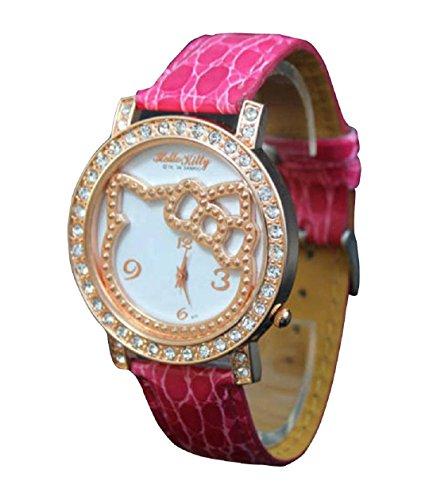 New Lovely Fashion Hello Kitty watches Girls Uhren M dchen Ladies Wrist Watch WKT KTW915R