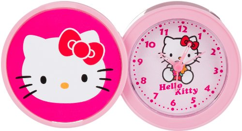 Hello Kitty kinder Alarm Tischuhr Analog Rosa HK940 5