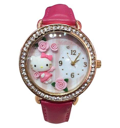Hello Kitty watches Girls Ladies Watches leather kids Watch WKT KTW010M