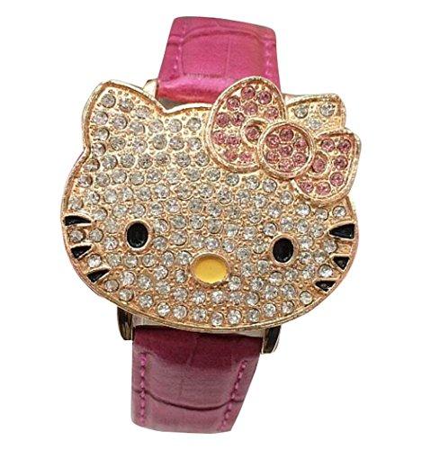 Hello Kitty watches Girls Ladies Watches leather kids Watch WKT KTW011M