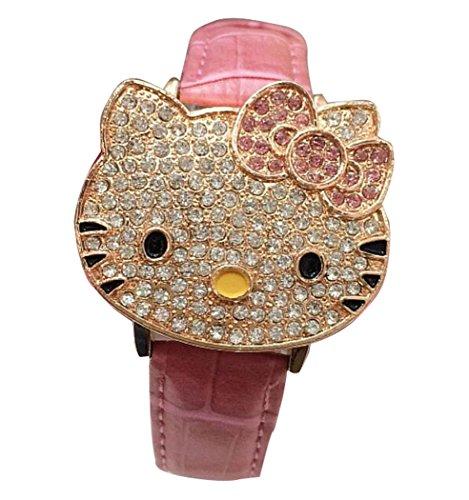 Hello Kitty watches Girls Ladies Watches leather kids Watch WKT KTW011P