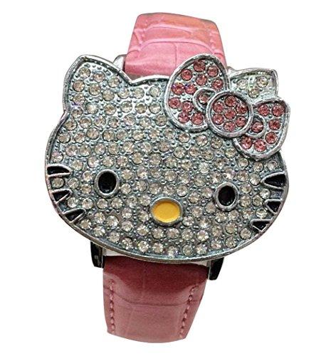 Hello Kitty watches Girls Ladies Watches leather kids Watch WKT KTW012P