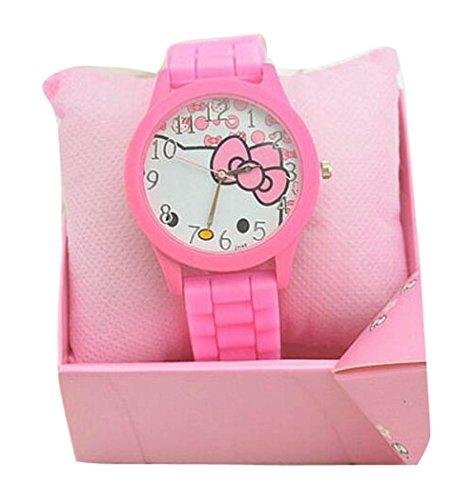 Hello Kitty watches Girls Ladies Watches Silicone kids Watch WKT KTW009P