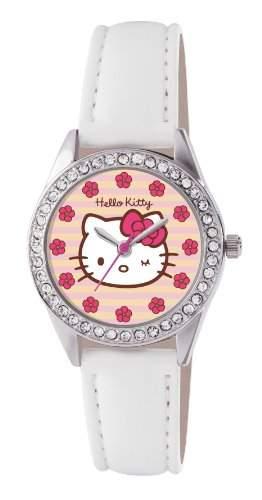 Hello Kitty Kinder-Armbanduhr Analog Kunststoff weiss HK008