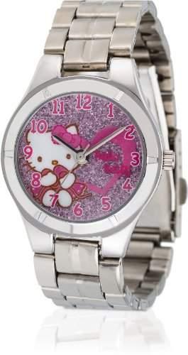 Hello Kitty Maedchen-Armbanduhr Ikeda Pink Metal Analog Quarz Alloy HK1154-512