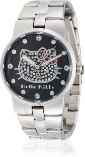 Hello Kitty Maedchen-Armbanduhr Kagoshima Black Metal Analog Quarz Alloy HK6804-242