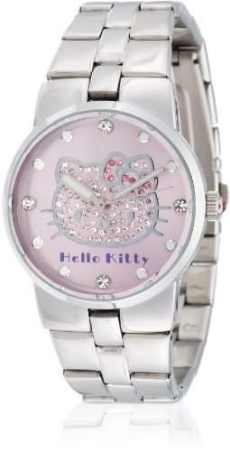 Hello Kitty Maedchen-Armbanduhr Kagoshima Pink Metal Analog Quarz Alloy HK6804-542