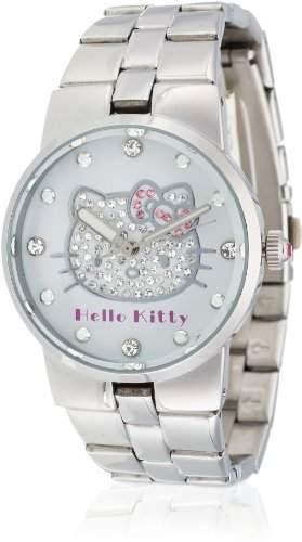Hello Kitty Maedchen-Armbanduhr Kagoshima Silver Metal Analog Quarz Alloy HK6804-142