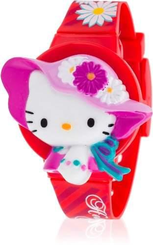 Hello Kitty Maedchen-Armbanduhr Kaisei Red Digital Quarz Plastik HK7601-8
