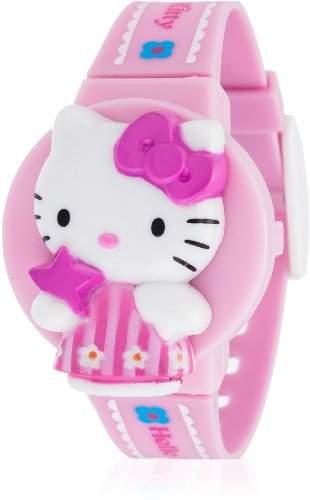 Hello Kitty Maedchen-Armbanduhr Kaisei Rose Digital Quarz Plastik HK7602-9
