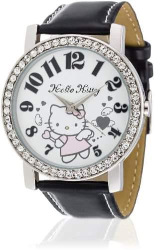 Hello Kitty Maedchen-Armbanduhr Makurazaki Black Analog Quarz Kunstleder HK3174-117
