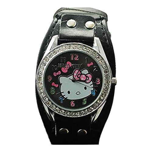 New Lovely Fashion Hello Kitty watches Girls Uhren M dchen Ladies Wrist Watch WKT KTW001B