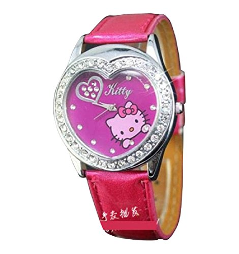 New Lovely Fashion Hello Kitty watches Girls Uhren M dchen Ladies Wrist Watch WKT KTW53465R
