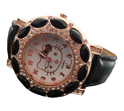 New Lovely Fashion Hello Kitty watches Girls Uhren M dchen Ladies Wrist Watch WKT KTWB0321B